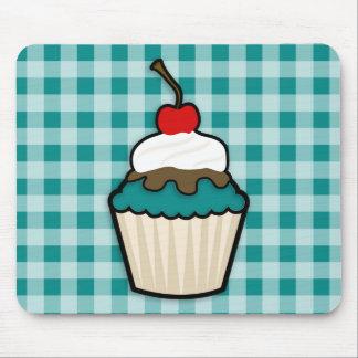 Teal Green Cupcake Mouse Pad