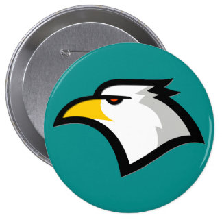 Teal Green; Eagle 10 Cm Round Badge