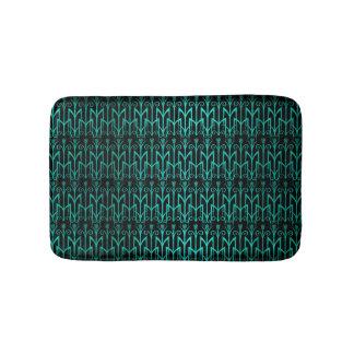 Teal Green Egyptian Reed Grass Color Art Deco Bath Mats