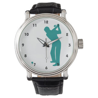 Teal Green Golf Watch