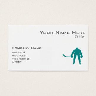 Teal Green Hockey Business Card
