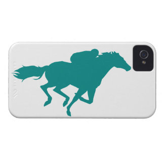 Teal Green Horse Racing iPhone 4 Case