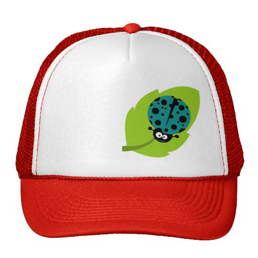 Teal Green Ladybug Hats