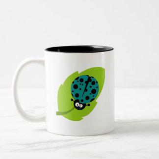 Teal Green Ladybug Coffee Mug