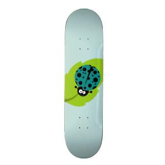 Teal Green Ladybug Skateboard