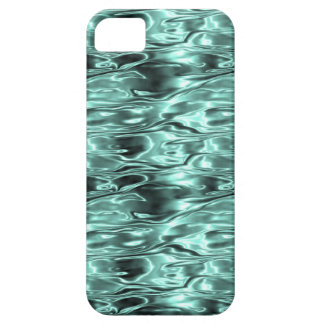 Teal Green Liquid Metal Metallic Fluid Aqua iPhone 5 Cases