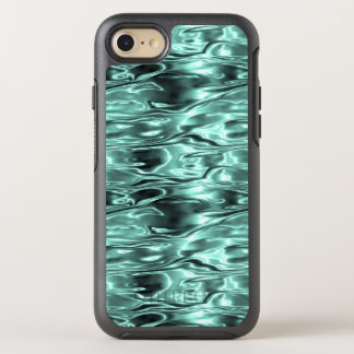 Teal Green Liquid Metal Metallic Fluid Aqua OtterBox Symmetry iPhone 7 Case