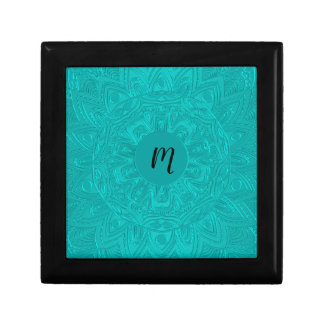 Teal Green Mandala Monogram Gift Box