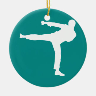 Teal Green Martial Arts Christmas Ornament