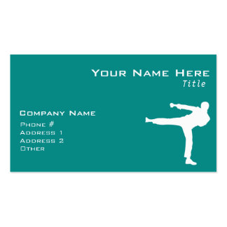 Teal Green Martial Arts Pack Of Standard Business Cards