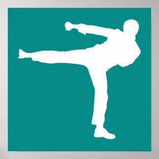 Teal Green Martial Arts Print