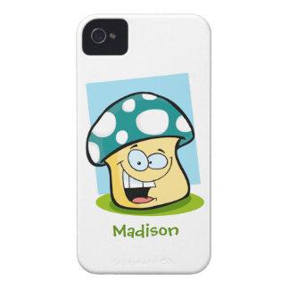 Teal Green Mushroom iPhone 4 Case