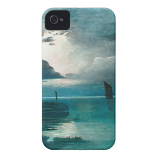 Teal Green Ocean and Boats iPhone 4 Case-Mate Cases