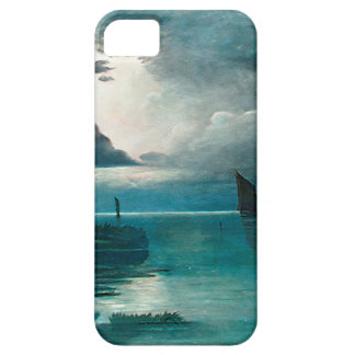 Teal Green Ocean and Boats iPhone 5 Covers