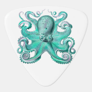 Teal Green Octopus Ocean Sea Life Nautical Plectrum