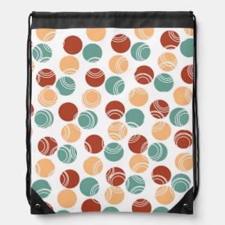 Teal Green, Peach, Burnt Orange Polka Dots Backpack