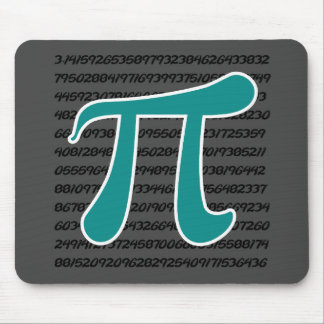 Teal Green Pi symbol Mouse Pad