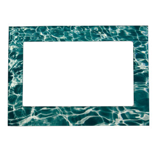 Teal Green Pool Pattern Photo Frame Magnets