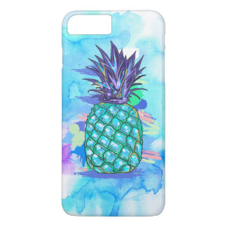 Teal-Green & Purple Posterized Pineapple iPhone 7 Plus Case