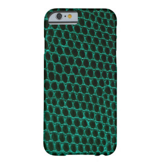 Teal Green Reptile Snakeskin Pattern iPhone 6 Case Barely There iPhone 6 Case