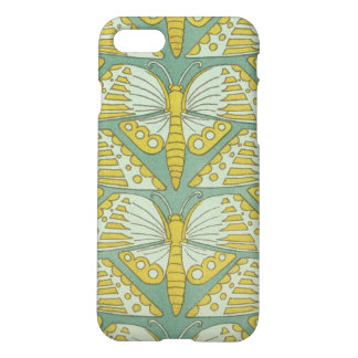 Teal Green Retro Butterfly Pattern iphone Case