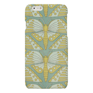 Teal Green Retro Butterfly Pattern iphone Case iPhone 6 Plus Case