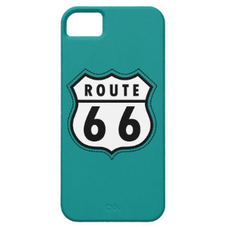 Teal Green Route 66 sign iPhone 5 Covers