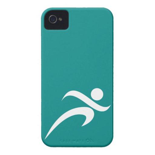 Teal Green Running iPhone 4 Case-Mate Case