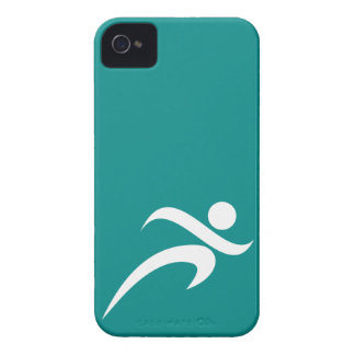 Teal Green Running iPhone 4 Case