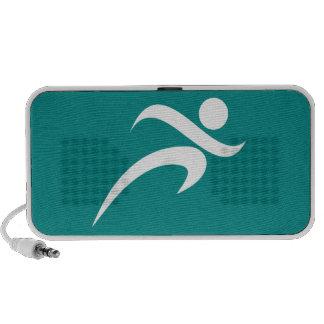 Teal Green Running Portable Speaker