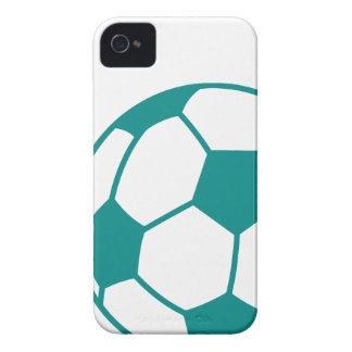 Teal Green Soccer Ball iPhone 4 Case-Mate Case