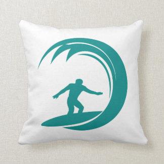 Teal Green Surfing Cushion