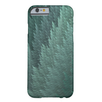 Teal Green Tartan Feather Pattern Case Barely There iPhone 6 Case
