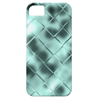 Teal Green Tile Liquid Metal Metallic Fluid Aqua iPhone 5 Cover