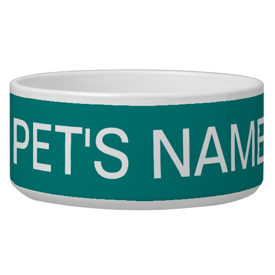 Teal Green Traditional Colour Matched Pet Bowl