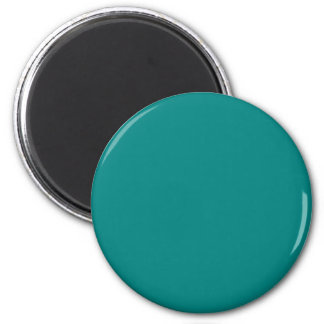 Teal Green Upscale Color Coordinating 6 Cm Round Magnet
