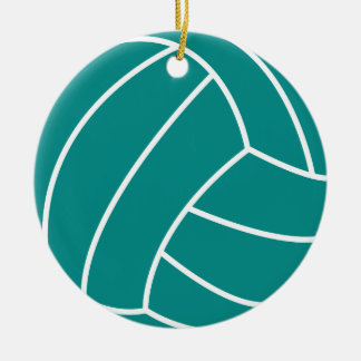 Teal Green Volleyball Christmas Ornament