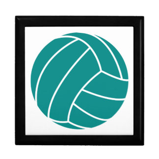 Teal Green Volleyball Keepsake Box
