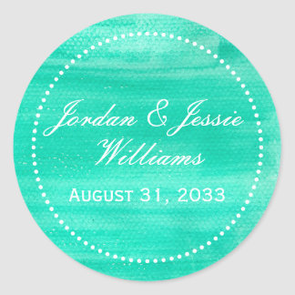 Teal Green Watercolor Sticker