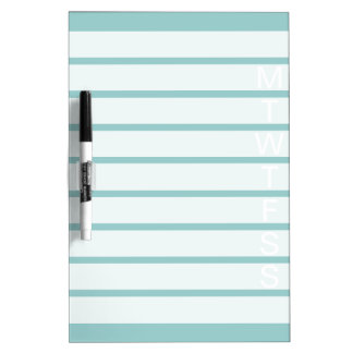 Teal green weekly calendar dry erase board