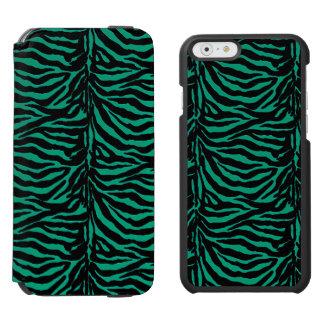 Teal Green Zebra Striped iPhone Wallet Case Incipio Watson™ iPhone 6 Wallet Case