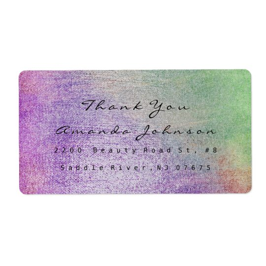 Teal Greenly Purple Blush Makeup Thank You
