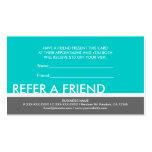 Teal grey simple refer a friend custom cards