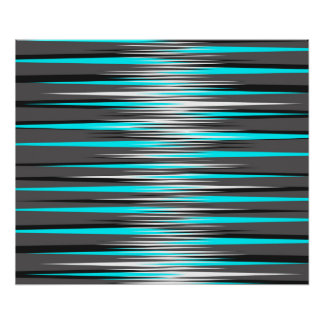 Teal, Grey, White, & Black Stripes Posters