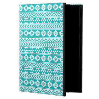 Teal Grunge Aztec Tribal Pattern Case For iPad Air