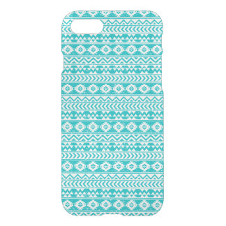 Teal Grunge Aztec Tribal Pattern iPhone 8/7 Case