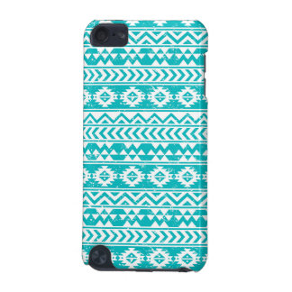 Teal Grunge Aztec Tribal Pattern iPod Touch 5G Covers