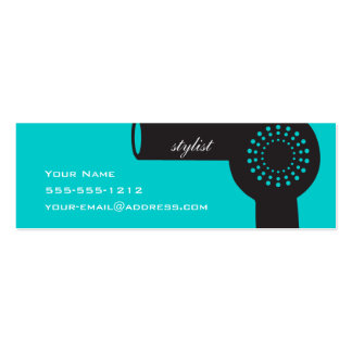 Teal Hair Stylist Skinny Biz Card Pack Of Skinny Business Cards