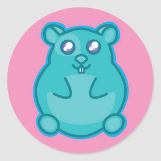 Teal Hamster Sticker
