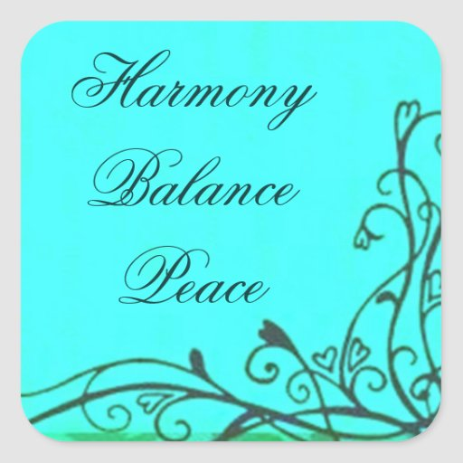 Teal Harmony Balance Peace Sticker